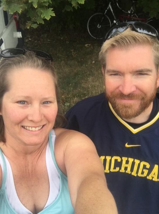 Jeff and I pre-run