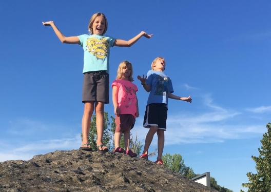 The kids are on top of the world!!