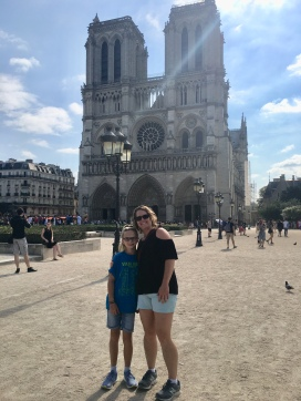 Outside the Notre Dame